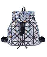 Suuran Luminous Geometric Back Pack Purse for Women Laser Rainbow Backpa... - $29.89