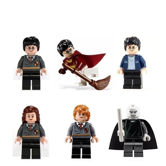 Harry Potter Hemione Ron Lord Voldemort  Building Block Fit Lego Minifigure 6pcs
