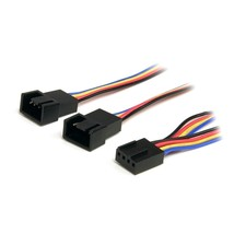 StarTech Cable FAN4SPLIT12 12in 4-Pin Fan Power Splitter Cable Female/Male Retai - $21.57