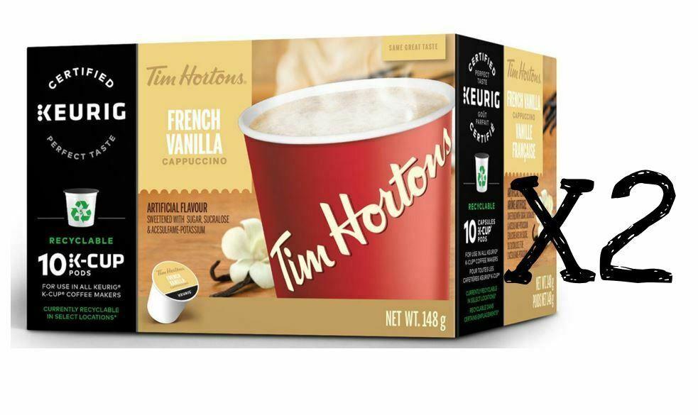 Tim Hortons Keurig Single Serve K Cups French Vanilla Cappuccino - Box of 10x2 - $21.77
