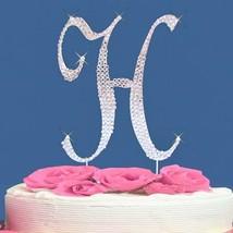 Fully Covered in Crystal Monogram Wedding Cake Topper Letter - Letter H - $12.44