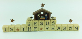 Christmas Tabletop Decor - Jesus is the Reason Resin Clay Blocks - $19.75