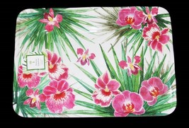 Outdoor Collection Tropical Hibiscus Orchid LRG Melamine 18-1/2 Tray Platter NWT - $42.99