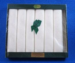 Vintage Ewart Liddell 100% Irish Linen Damask Napkins Chrysanthemum 6 NE... - $56.06