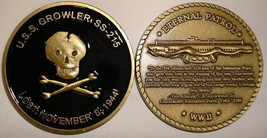 NAVY USS GROWLER  SS-215 LOST SUBMARINE CHALLENGE COIN - $27.07