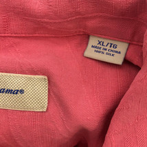 Tommy Bahama Button Up Shirt Adult XL Pink Silk Relax Casual Hawaiian Adult - $19.79