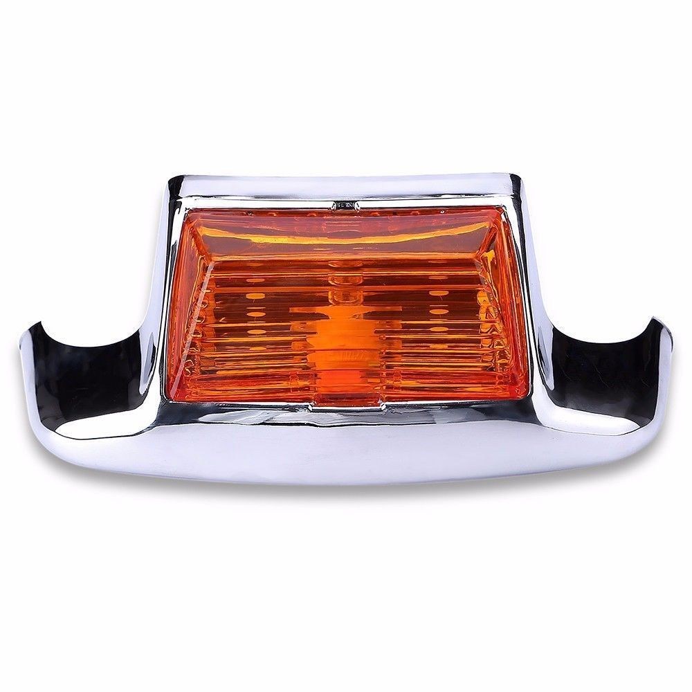 RED REAR MUDGUARD FENDER TIP WHITE LIGHT FOR HARLEY ROAD KING FLHT FLT FLHS