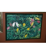 Hand painted Custom Framed Original Canvas Signed Art Starling Orchids D... - $759.99