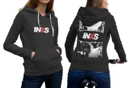Inxs black cotton hoodie for women thumb200