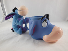 """Disney Winnie the Pooh Eeyore Plastic Figural Cup and 6"""" plush toy - $13.85"""