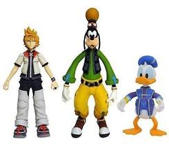 DIAMOND SELECT TOYS Kingdom Hearts Select Series 2: Roxas, Donald Duck, ... - $34.36