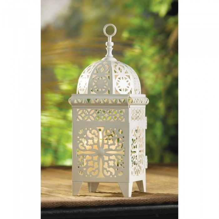 12 Lot White Moroccan Marrakech Lantern Candle Holder Wedding Centerpieces