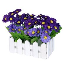 George Jimmy Artificial Flowers Arrangement Room Components Wood Fence Floral De - $14.35