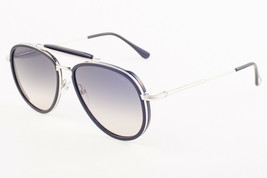 Tom Ford TRIPP Shiny Black / Gray Gradient Sunglasses TF666 01B 58mm - $224.42