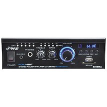 Pyle Home PCAU48BT 120-Watt Mini Blue Series Bluetooth Stereo Power Amp - $186.99