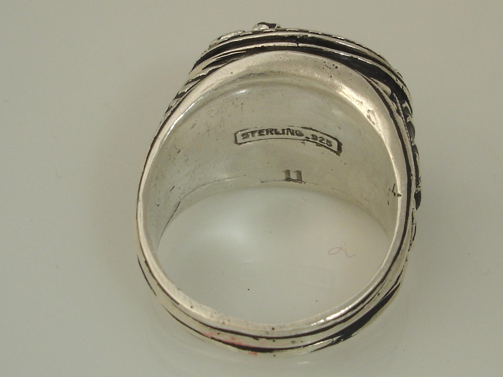 Roman Centurion Men's Signet ring,,Sterling Silver,Lg.