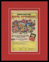 1978 Marvel Comics Framed 11x14 ORIGINAL Vintage Advertisement Spider-Man Hulk - $41.71