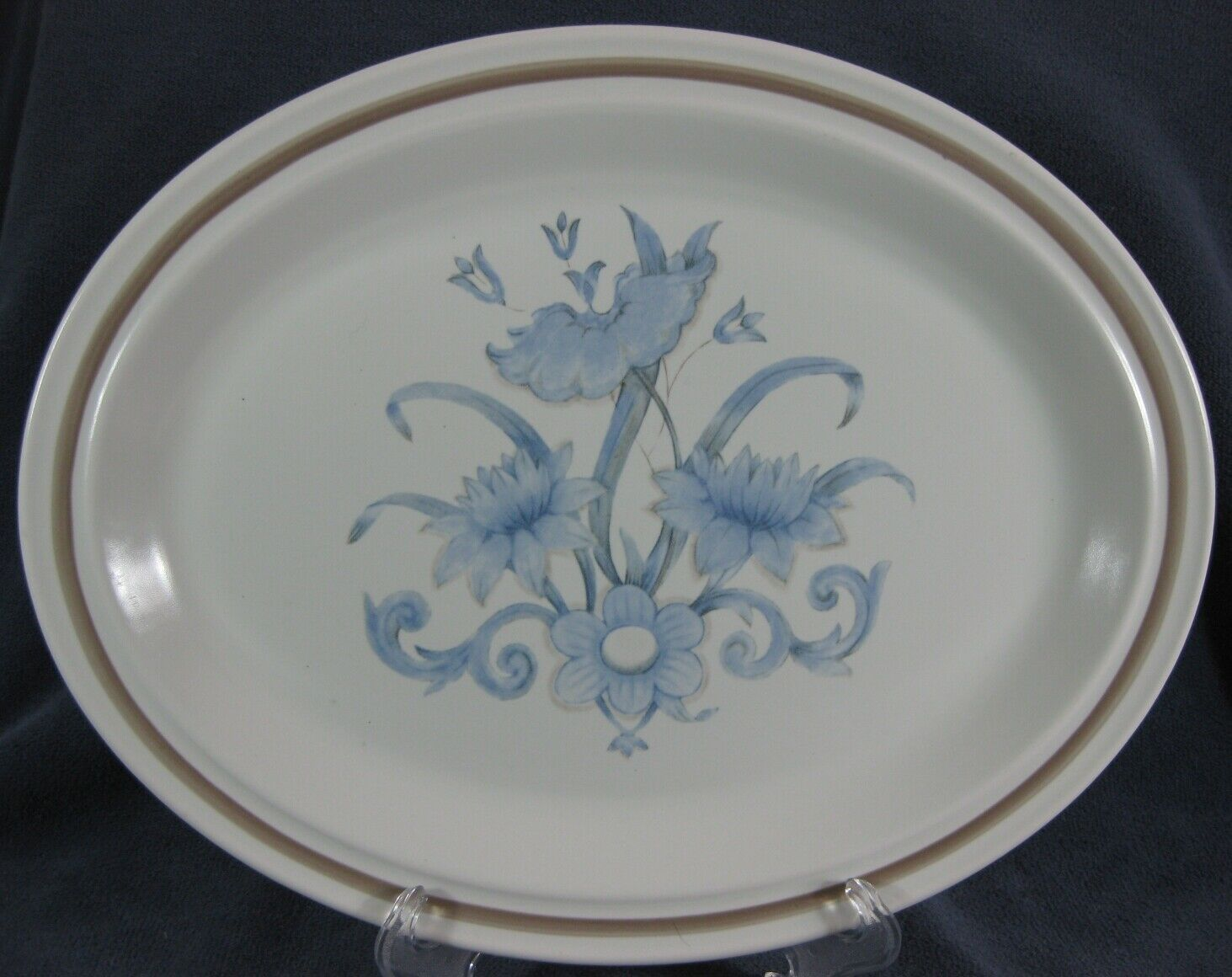 "Royal Doulton Inspiration LS1016 Oval Serving Platter 13"" Lambethware England"