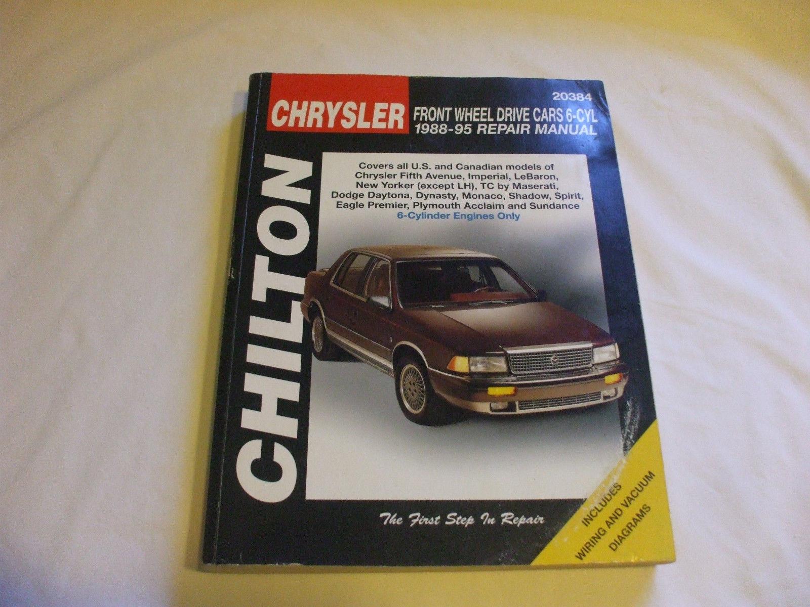 Chrysler: Front Wheel Drive Cars 6 Cyl 1988-95 Mecanics repair manual