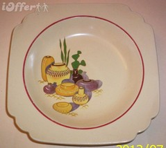 """HOMER LAUGHLIN MEXICANA RED RIMMED MEXICANA SOUP BOWL   8"""" - $24.95"""
