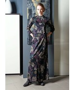 PARTY SKIRT SET STRETCH CASUAL LONG SLEEVE A-LINE LONG SKIRT MADE IN GER... - $196.00