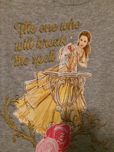 Nwot Tee Shirt Disney Princess Belle Gray Size 7-8 The One Who Breaks The Spell - $6.98
