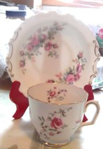 Royal Albert Moss Rose Tea Cup & Saucer Bone China  - $14.00