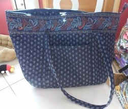 Vera Bradley Miller Bag in retired Classic Navy pattern #2 - $69.50