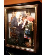 "Norman Rockwell ""The Doctor and Doll"" 3-D Shadow Box ART PICTURE WALL HA... - $14.84"