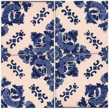Decorative Ceramic Tiles Faro   Hand Painted Glazed Wall Art   Tradition... - $79.20