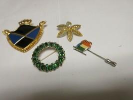 Costume Jewelry ,Vintage  , Pins , Lot of 4  , Unique Designs , MONET - $44.55