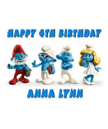 Smurfs edible cake image cake topper frosting sheet party decoration - $7.80