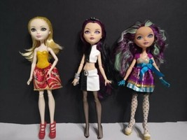 Lot of 3 Ever After High Dolls  Raven Queen, Apple White & Madeline Hatter - $32.99