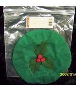 Longaberger Christmas 2003 Caroling Basket Lid Cover Only Ivy Green Fabr... - $12.82