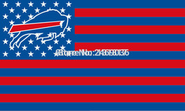 Large Buffallo Bills Football Flag Banner 3x5 FT with Metal Grommets - £12.81 GBP