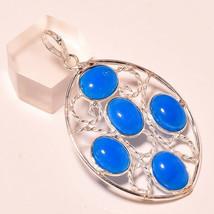 """Shiny Blue Chalcedony Gemstone Fashion Jewelry Pendant S-2.30"""" SP-538 - $3.35"""