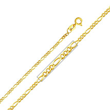 14k Yellow Gold 1.6-mm Figaro Chain Necklace - 16, 18, 20, or 22 inches - $104.55