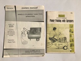 Vintage Manual Sears Single Cylinder Tank Type Sprayers + Sprayer Handbook  - $19.75