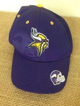 NFL Minnesota Vikings Purple One Size Hook Loop Back Baseball Hat Cap - £9.32 GBP