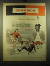 1949 Champion Spark Plugs Advertisement - $14.99