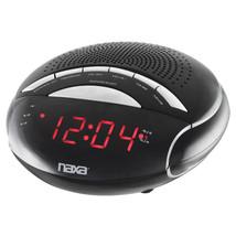 NAXA Electronics NRC-170 PLL Digital Dual Alarm Clock with AM/FM Radio a... - $26.72