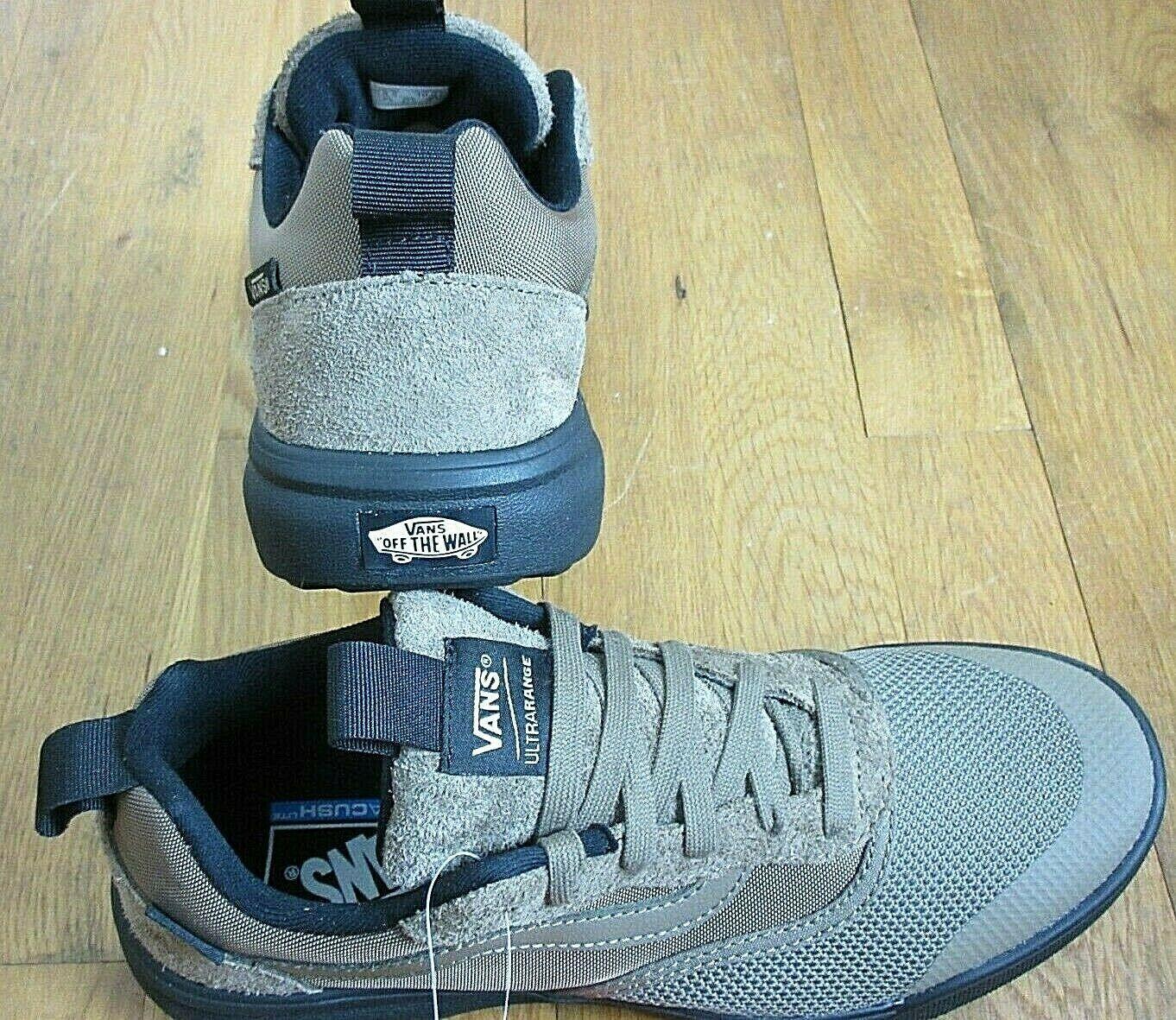 Vans Mens UltraRange Cub Brown Black Suede Mesh Skate Trail shoes Size 7.5 NWT