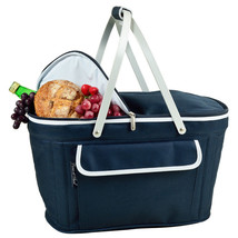 Picnic At Ascot Collapsible Insulated Camping / Beach Basket Cooler Navy... - $50.00
