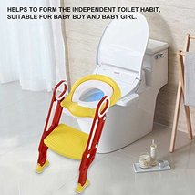 AYNEFY Potty Chair, Potty Training Seat Soft Toilet Chair Ladder Adjustable Safe image 3