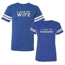 We Match! I Love My Wife I Love My Husband Matching Couples Football T-Shirt Set