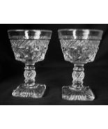 2 Imperial Glass CAPE COD Liquor / Cocktail Footed Glasses  - $8.00
