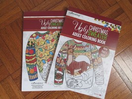 LOT of 2 Ugly Christmas Sweater Adult Coloring Books NEW FAST SHIPPING  - $12.37