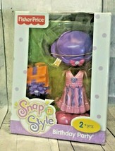Fisher Price Snap N Style Birthday Party Outfit Dress Hat Shoes Present Set - $28.05