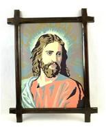 Vintage Paint by Number Jesus Portrait Wood Framed - $24.70