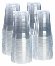 [100 Pack - 16 oz.] Crystal Clear PET Plastic Cups - $16.45